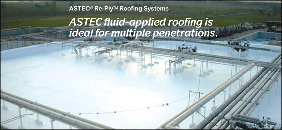 photo of fluid-applied roofing