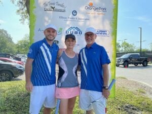 The Duncan family supporting the Tennis 4 Cancer event in Clay County in 2021