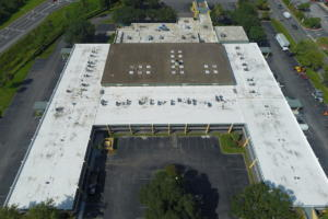 This is a Duro-Last roof that we installed on a Quality Inn on Commonwealth Ave. in Jacksonville.