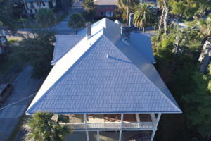 This is a Berridge Victorian Shingle tile steel system installed in the Riverside/Avondale area.