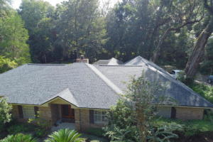 """This is an """"After"""" photo of a home we did on Augusta Dr. The color we installed was Moire Black."""