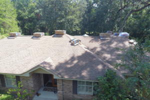 """This is the """"Before"""" photo  of a home we did on Augusta Dr. The color we installed was Moire Black."""